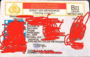 印尼驾照翻译