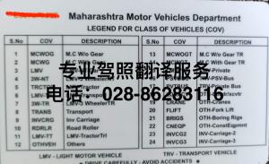 印度驾照背面